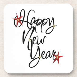 HAPPY NEW YEAR COASTERS - set of 6