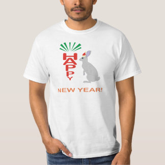Happy New Year Collection With Rabbit Design T-Shirt