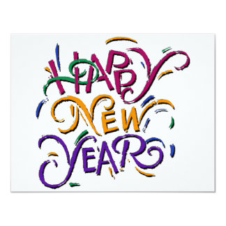 Happy New Year Color 2 Card