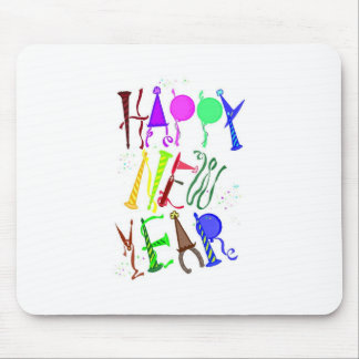 Happy New Year Color 2 Mouse Pad