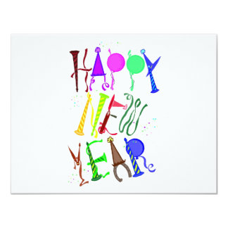 Happy New Year Color 3 Card