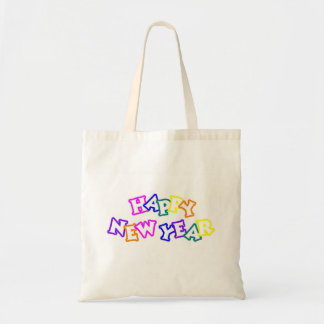Happy New Year Color Budget Tote Bag