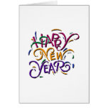 Happy New Year Color Greeting Cards