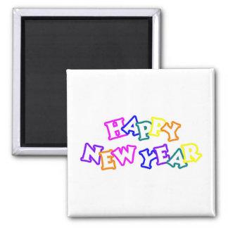 Happy New Year Color Fridge Magnet
