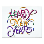 Happy New Year Color Personalized Announcement