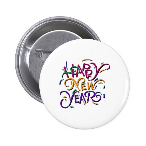 Happy New Year Color Pin