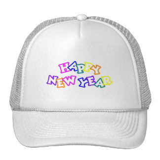 Happy New Year Color Trucker Hat