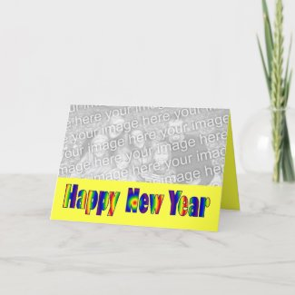 Happy New Year colorful card