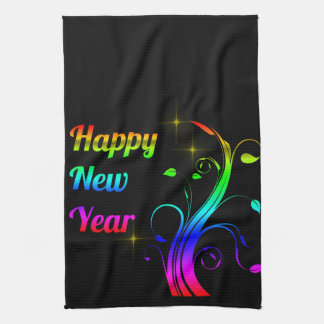 Happy New Year colorful Kitchen Towel
