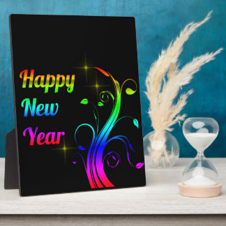 Happy New Year colorful Plaque