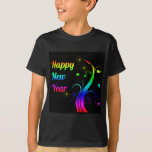 Happy New Year colorful T-Shirt
