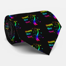 Happy New Year colorful Tie