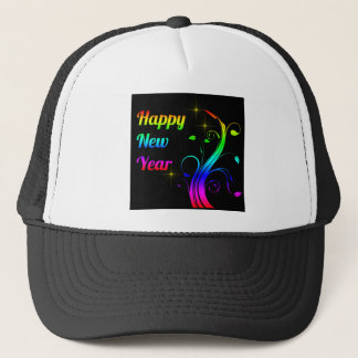 Happy New Year colorful Trucker Hat