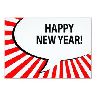 happy new year! comic bubble card