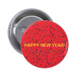 """Happy New Year"" Confetti on Red Button"