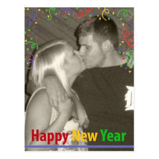 Happy New Year - confetti Postcard