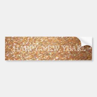 Happy New Year! Copper Glitter Glamour Party Car Bumper Sticker