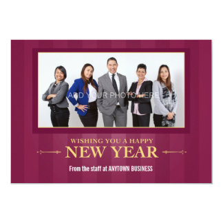 Happy New Year Corporate Photo Greeting Card