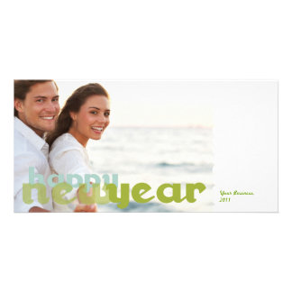 Happy New Year Corporate Photo Postcard Photo Greeting Card