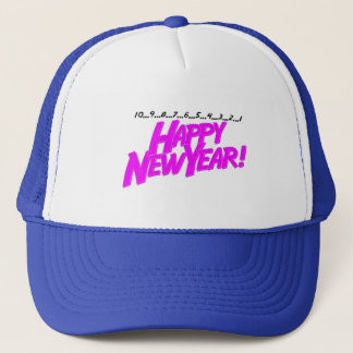 Happy New Year Countdown Trucker Hat