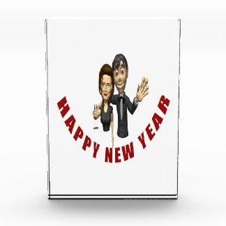 Happy New Year Couple Acrylic Award