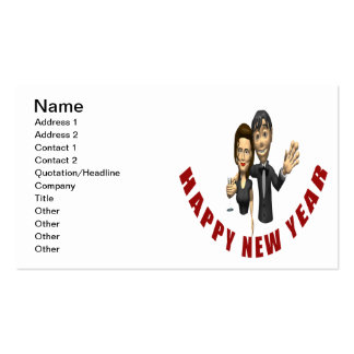 Happy New Year Couple Business Card