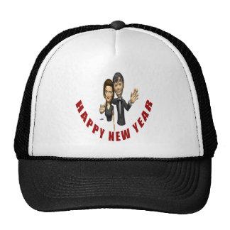 Happy New Year Couple Hats