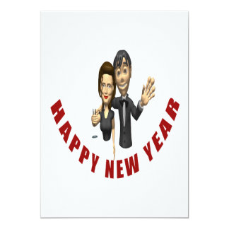 Happy New Year Couple Personalized Invitations