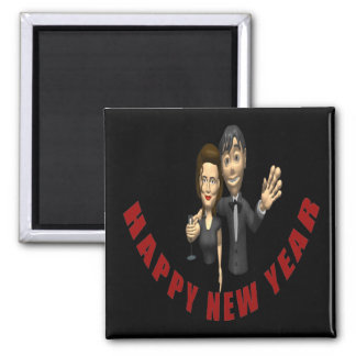 Happy New Year Couple Magnet