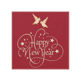Happy New Year Custom Wood Wall Art
