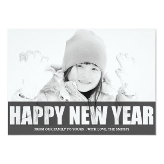 HAPPY NEW YEAR CUT OUT PHOTO CARD CUSTOM INVITE