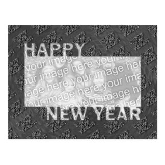 Happy New Year Cut Out Photo Frame - Silver Postcard
