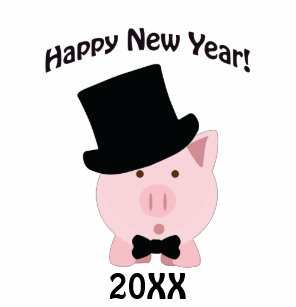 happy new year dapper pig baby t shirt