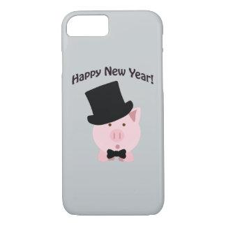 Happy New Year! Dapper Pig iPhone 7 Case