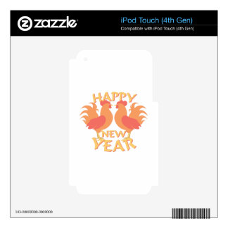 Happy New Year Decal For iPod Touch 4G