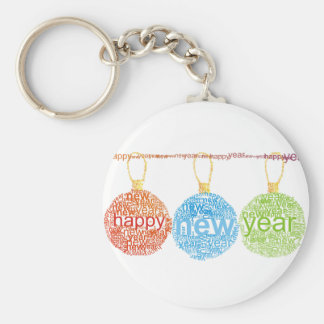 Happy New Year Decorations Keychain