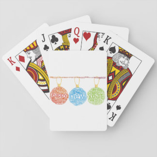 Happy New Year Decorations Playing Cards