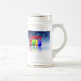 Happy New Year Design Beer Stein