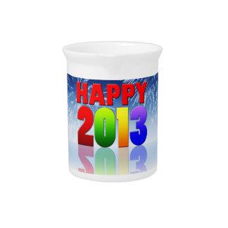 Happy New Year Design Beverage Pitchers
