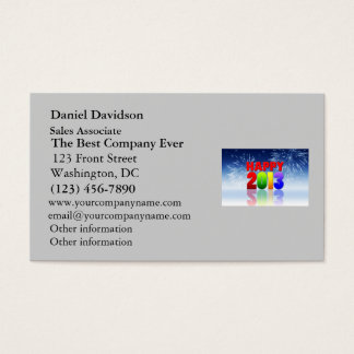 Happy New Year Design Business Card