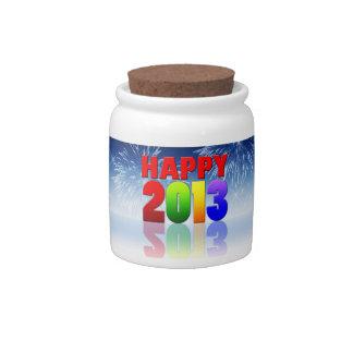 Happy New Year Design Candy Jar