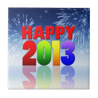 Happy New Year Design Ceramic Tiles
