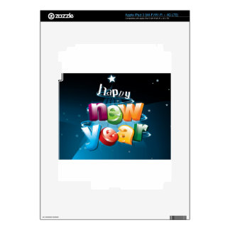 Happy new year design decal for iPad 3