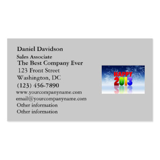 Happy New Year Design Double-Sided Standard Business Cards (Pack Of 100)