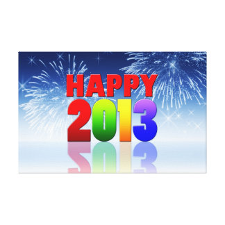 Happy New Year Design Gallery Wrapped Canvas