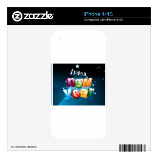 Happy new year design iPhone 4S decal
