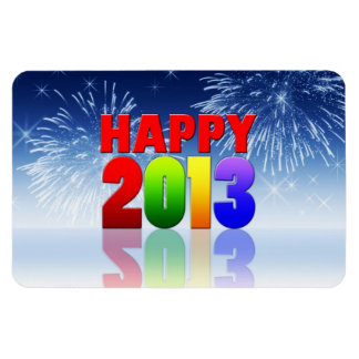 Happy New Year Design Magnets