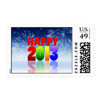 Happy New Year Design Postage Stamps