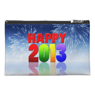 Happy New Year Design Travel Accessory Bags