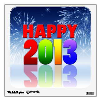Happy New Year Design Wall Decals
